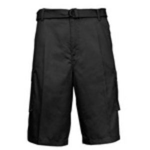 Galaxy Mens Flat-Front Belted Cargo Shots black 36